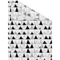 Lichtblick Fensterfolie selbstklebend, Sichtschutz, Dreiecke - Schwarz Weiß Breite: 100 cm, Länge: 100 cm