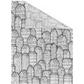 Lichtblick Fensterfolie selbstklebend, Sichtschutz, Stadt - Schwarz Weiß Breite: 100 cm, Länge: 100 cm