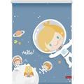 Lichtblick Rollo Klemmfix, ohne Bohren, blickdicht, Astronaut - Blau Breite: 100 cm