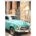 Lichtblick Rollo Klemmfix, ohne Bohren, blickdicht, Kuba - Türkis Braun Breite: 100 cm