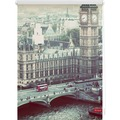 Lichtblick Rollo Klemmfix, ohne Bohren, blickdicht, London Westminster - Grau Breite: 100 cm