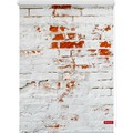 Lichtblick Rollo Klemmfix, ohne Bohren, blickdicht, Mauer - Weiß Rot Breite: 100 cm