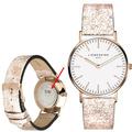 Liebeskind Damenuhr MIT GRAVUR (z.B. Namen) LT-0101-LQ Rindsleder mit Lederarmband Damen Uhr Leder Armbanduhr