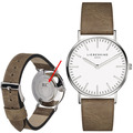 Liebeskind Damenuhr MIT GRAVUR (z.B. Namen) mit Lederarmband LT-0083-LQ calf Uhr Damen Armbanduhr Leder