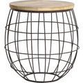 Light & Living Beistelltisch Ø52x52 cm DIVAN Rost-Holz