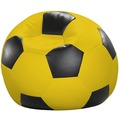 linke licardo Fußball-Sitzsack Kunstleder gelb/schwarz Ø 80 cm