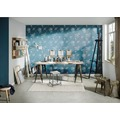 Livingwalls florale Mustertapete Moments Vliestapete blau metallic 10,05 m x 0,53 m