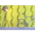 Livingwalls futuristische 3D Tapete Harmony in Motion by Mac Stopa Tapete grün metallic weiß 10,05 m x 0,53 m