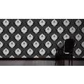 Livingwalls Mustertapete Black & White 3, Vliestapete, schwarz, weiß 554314 10,05 m x 0,53 m