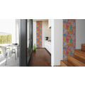 Livingwalls selbstklebendes Panel Pop.up Panel 3D bunt 2,50 m x 0,52 m