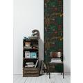 Livingwalls selbstklebendes Panel Pop.up Panel 3D schwarz bunt 2,50 m x 0,52 m