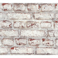 Livingwalls selbstklebendes Panel Pop.up Panel 3D weiß rostrot 368481 2,50 m x 0,52 m