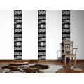"Livingwalls selbstklebendes Panel ""Pop.up Panel"", beige, grau, schwarz 2,50 m x 0,35 m"