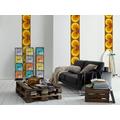 "Livingwalls selbstklebendes Panel ""Pop.up Panel"", braun, gelb, orange"