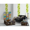 "Livingwalls selbstklebendes Panel ""Pop.up Panel"", gelb, grün 2,50 m x 0,35 m"