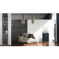 "Livingwalls selbstklebendes Panel ""Pop.up Panel"", grau, metallic, schwarz 2,50 m x 0,35 m"