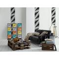 "Livingwalls selbstklebendes Panel ""Pop.up Panel"", grau, schwarz 2,50 m x 0,35 m"