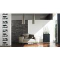 "Livingwalls selbstklebendes Panel ""Pop.up Panel"", metallic, schwarz 2,50 m x 0,35 m"