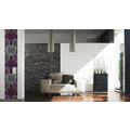 "Livingwalls selbstklebendes Panel ""Pop.up Panel"", metallic, schwarz, violett 2,50 m x 0,35 m"