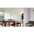 "Livingwalls selbstklebendes Panel ""Pop.up Panel"", violett, weiss 2,50 m x 0,35 m"