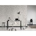 Livingwalls Vliestapete Colibri Tapete grafisch modern schwarz creme 10,05 m x 0,53 m