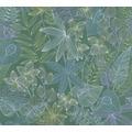 Livingwalls Vliestapete Colibri Tapete in floraler Dschungel Optik grün blau lila 366302 10,05 m x 0,53 m