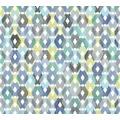 Livingwalls Vliestapete Colibri Tapete in Retro Optik grafisch gelb blau grau 362882
