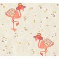Livingwalls Vliestapete Cozz Ökotapete mit Flamingos grau beige orange 362912 10,05 m x 0,53 m
