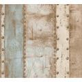 Livingwalls Vliestapete Industrial Tapete in Vintage Optik beige blau braun 377431 10,05 m x 0,53 m