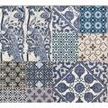 Livingwalls Vliestapete Metropolitan Stories Anke & Daan Amsterdam blau creme weiß 369232 10,05 m x 0,53 m