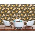 Livingwalls Vliestapete Metropolitan Stories Anke & Daan Amsterdam Tapete mit Blumen floral gelb 10,05 m x 0,53 m