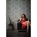 Livingwalls Vliestapete Metropolitan Stories Francesca Milano Tapete geometrisch grafisch grau metallic 10,05 m x 0,53 m