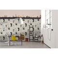 Livingwalls Vliestapete Metropolitan Stories Lola Paris Tapete mit Bilderrahmen beige schwarz weiß 10,05 m x 0,53 m