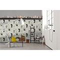 Livingwalls Vliestapete Metropolitan Stories Lola Paris Tapete mit Bilderrahmen metallic schwarz weiß 369182 10,05 m x 0,53 m