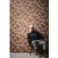 Livingwalls Vliestapete Metropolitan Stories Nils Olsson Copenhagen Tapete in geometrischer Holz Optik beige braun 10,05 m x 0,53 m