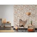 Livingwalls Vliestapete Metropolitan Stories Paul Bergmann Berlin Tapete in Vintage Backstein Optik grau orange weiß 10,05 m x 0,53 m