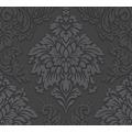 Livingwalls Vliestapete Glitter Metropolitan Stories Lizzy London barock grau schwarz 368984 10,05 m x 0,53 m