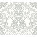 Livingwalls Vliestapete Glitter Neue Bude 2.0 glamouröse neo barocke Tapete grau weiß 361664 10,05 m x 0,53 m