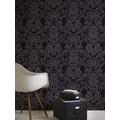 Livingwalls Vliestapete mit Glitter Neue Bude 2.0 glamouröse neo barocke Tapete schwarz 361663 10,05 m x 0,53 m