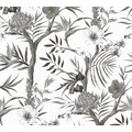 Livingwalls Vliestapete Neue Bude 2.0 Tapete in floraler Optik weiß grau schwarz 362022