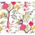 Livingwalls Vliestapete Neue Bude 2.0 Tapete in floraler Optik weiß orange braun 362021 10,05 m x 0,53 m