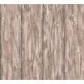 Livingwalls Vliestapete Neue Bude 2.0 Tapete in Holz Optik grau beige braun 361524