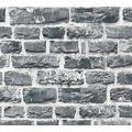 Livingwalls Vliestapete Neue Bude 2.0 Tapete in Naturstein Optik bunt grau schwarz 361404 10,05 m x 0,53 m