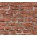 Livingwalls Vliestapete Neue Bude 2.0 Tapete in Vintage Backstein Optik bunt grau rot 361392 10,05 m x 0,53 m