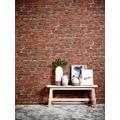 Livingwalls Vliestapete Neue Bude 2.0 Tapete in Vintage Backstein Optik bunt grau rot 10,05 m x 0,53 m