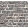 Livingwalls Vliestapete Neue Bude 2.0 Tapete Vintage Backstein Optik bunt grau schwarz 361393 10,05 m x 0,53 m