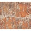 Livingwalls Vliestapete Neue Bude 2.0 Tapete in Vintage Rost Optik metallic grau beige 361182 10,05 m x 0,53 m