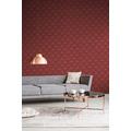 Livingwalls Vliestapete New Walls Tapete 50's Glam Art Deco Optik metallic rot 10,05 m x 0,53 m