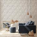 Livingwalls Vliestapete New Walls Tapete Cosy & Relax mit Palmenblättern beige braun creme 10,05 m x 0,53 m