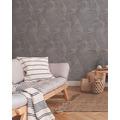 Livingwalls Vliestapete New Walls Tapete Cosy & Relax mit Palmenblättern grau beige braun 10,05 m x 0,53 m